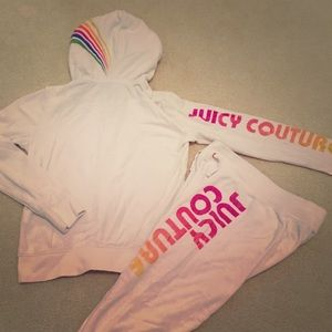 Juicy Couture Girls terry jogger Set 10y